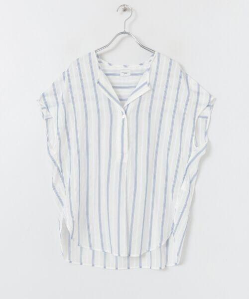 URBAN RESEARCH DOORS / アーバンリサーチ ドアーズ シャツ・ブラウス   ストライプコクーンシャツ   詳細13