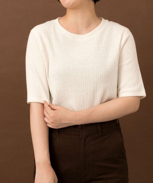URBAN RESEARCH DOORS / アーバンリサーチ ドアーズ Tシャツ | FORK&SPOON コットンヘンプ5分袖Tシャツ | 詳細3