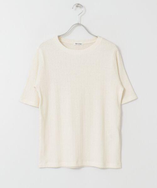 URBAN RESEARCH DOORS / アーバンリサーチ ドアーズ Tシャツ | FORK&SPOON コットンヘンプ5分袖Tシャツ | 詳細7