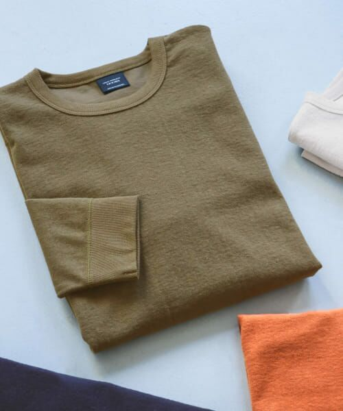 URBAN RESEARCH DOORS / アーバンリサーチ ドアーズ Tシャツ | ヘビーウェイトシャギープルオーバー(Khaki)