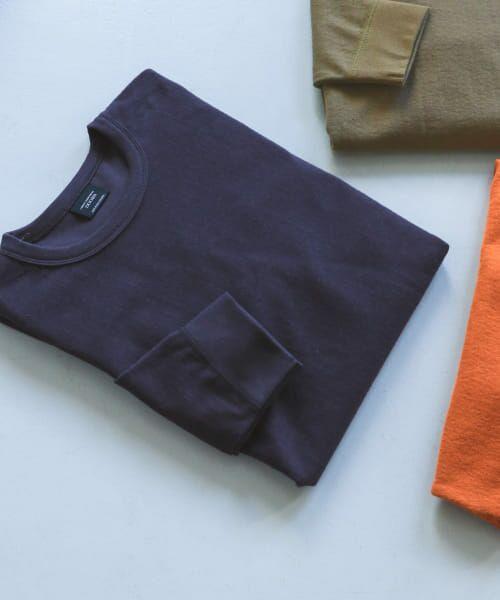 URBAN RESEARCH DOORS / アーバンリサーチ ドアーズ Tシャツ | ヘビーウェイトシャギープルオーバー(Navy)