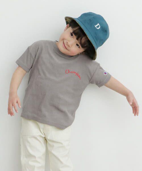 URBAN RESEARCH DOORS / アーバンリサーチ ドアーズ トップス | Champion×DOORS パイル刺繍T-SHIRTS(KIDS)(グレー)