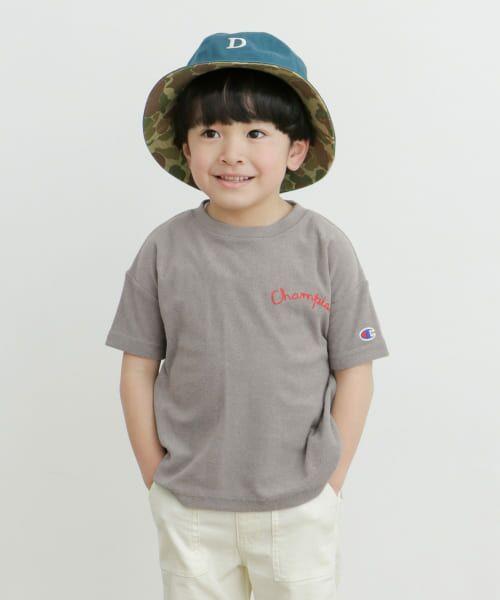 URBAN RESEARCH DOORS / アーバンリサーチ ドアーズ トップス | Champion×DOORS パイル刺繍T-SHIRTS(KIDS) | 詳細1