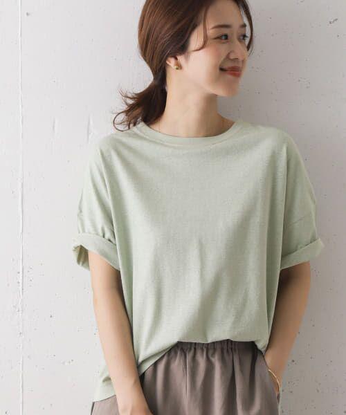 URBAN RESEARCH DOORS / アーバンリサーチ ドアーズ Tシャツ   コットンヘンプワイドTシャツ(MINT)