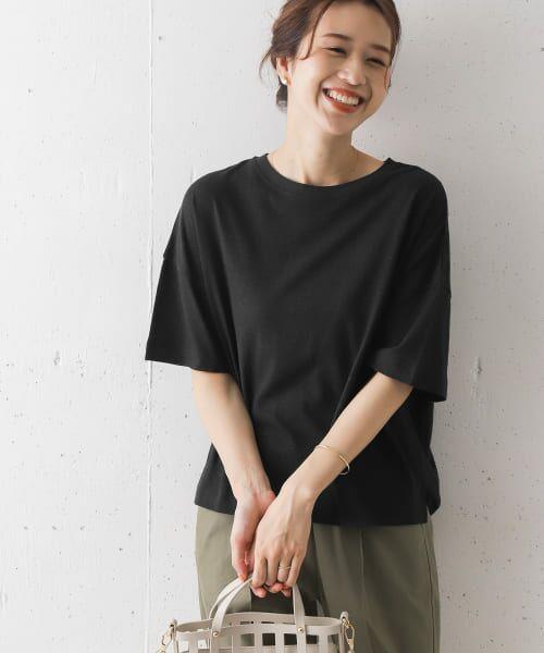 URBAN RESEARCH DOORS / アーバンリサーチ ドアーズ Tシャツ   コットンヘンプワイドTシャツ   詳細12