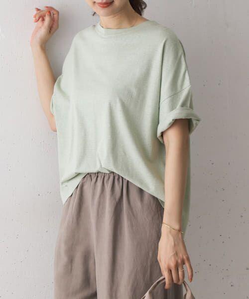URBAN RESEARCH DOORS / アーバンリサーチ ドアーズ Tシャツ   コットンヘンプワイドTシャツ   詳細15