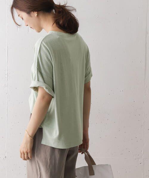URBAN RESEARCH DOORS / アーバンリサーチ ドアーズ Tシャツ   コットンヘンプワイドTシャツ   詳細16