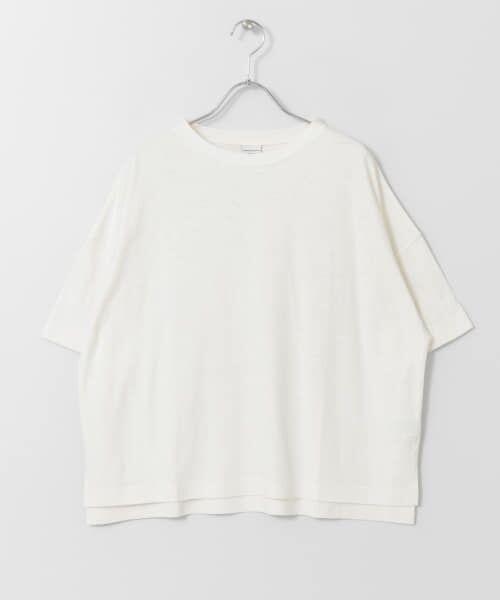 URBAN RESEARCH DOORS / アーバンリサーチ ドアーズ Tシャツ   コットンヘンプワイドTシャツ   詳細24