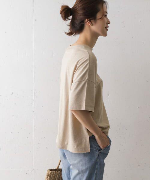 URBAN RESEARCH DOORS / アーバンリサーチ ドアーズ Tシャツ   コットンヘンプワイドTシャツ   詳細4