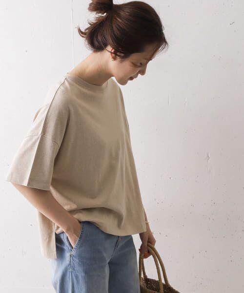 URBAN RESEARCH DOORS / アーバンリサーチ ドアーズ Tシャツ   コットンヘンプワイドTシャツ   詳細5