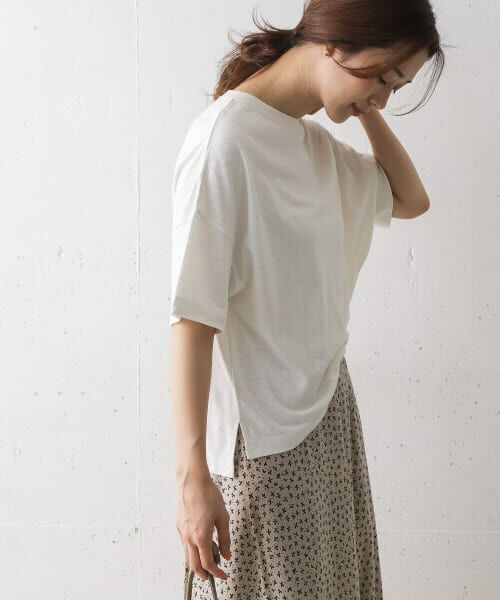 URBAN RESEARCH DOORS / アーバンリサーチ ドアーズ Tシャツ   コットンヘンプワイドTシャツ   詳細8