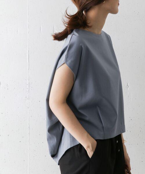 URBAN RESEARCH DOORS / アーバンリサーチ ドアーズ Tシャツ | フレンチスリーブバックタックプルオーバー | 詳細1