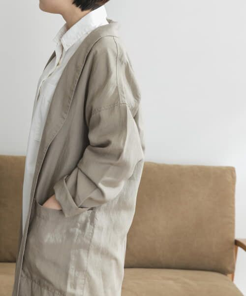 URBAN RESEARCH DOORS / アーバンリサーチ ドアーズ その他アウター | FORK&SPOON リネンガウン | 詳細17