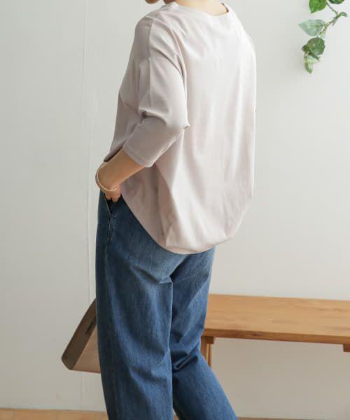 URBAN RESEARCH DOORS / アーバンリサーチ ドアーズ Tシャツ | コットンタック7分袖プルオーバー | 詳細20