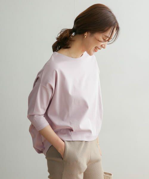 URBAN RESEARCH DOORS / アーバンリサーチ ドアーズ Tシャツ | コットンタック7分袖プルオーバー | 詳細26