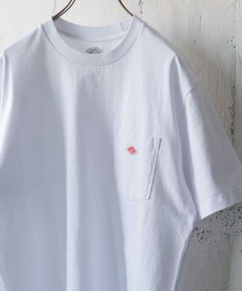 URBAN RESEARCH DOORS / アーバンリサーチ ドアーズ Tシャツ | DANTON クルーネック半袖ポケットTシャツ(WHITE)