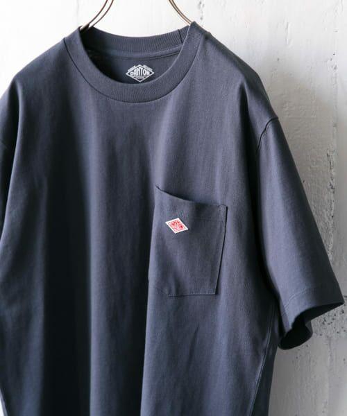 URBAN RESEARCH DOORS / アーバンリサーチ ドアーズ Tシャツ | DANTON クルーネック半袖ポケットTシャツ(GREY NAVY)