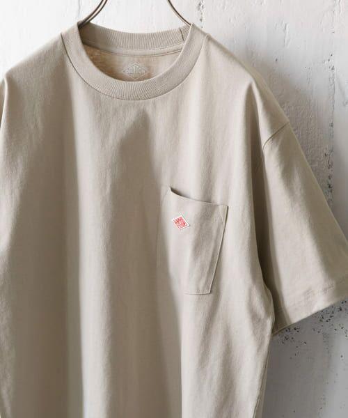 URBAN RESEARCH DOORS / アーバンリサーチ ドアーズ Tシャツ | DANTON クルーネック半袖ポケットTシャツ(GREIGE)