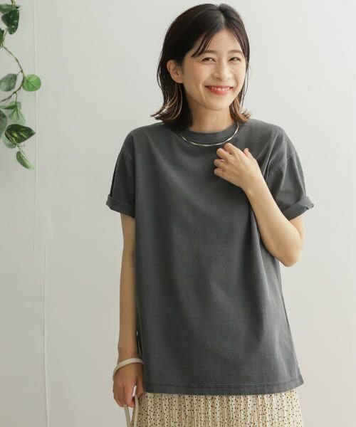 URBAN RESEARCH DOORS / アーバンリサーチ ドアーズ Tシャツ | オーガニックコットン半袖Tシャツ(CHARCOAL)