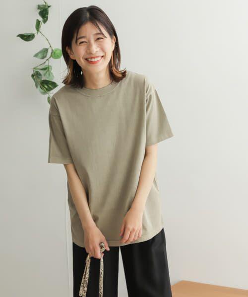 URBAN RESEARCH DOORS / アーバンリサーチ ドアーズ Tシャツ | オーガニックコットン半袖Tシャツ(KHAKI)