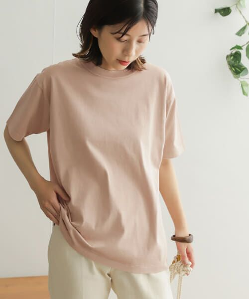 URBAN RESEARCH DOORS / アーバンリサーチ ドアーズ Tシャツ | オーガニックコットン半袖Tシャツ(PINK)