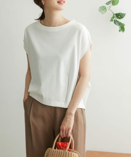 URBAN RESEARCH DOORS / アーバンリサーチ ドアーズ Tシャツ   コットンタックフレンチプルオーバー   詳細30