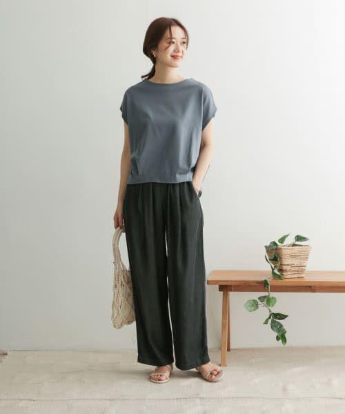 URBAN RESEARCH DOORS / アーバンリサーチ ドアーズ Tシャツ   コットンタックフレンチプルオーバー   詳細7