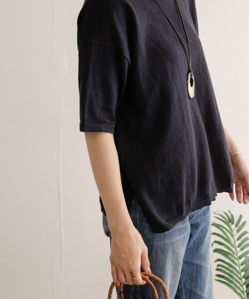 URBAN RESEARCH DOORS / アーバンリサーチ ドアーズ Tシャツ | 高機能リネンニットTシャツ | 詳細21