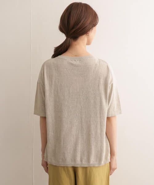 URBAN RESEARCH DOORS / アーバンリサーチ ドアーズ Tシャツ | 高機能リネンニットTシャツ | 詳細30