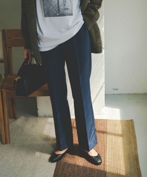 URBAN RESEARCH DOORS / アーバンリサーチ ドアーズ その他パンツ | ライトダブルクロスフレアイージーパンツ(BLUE)