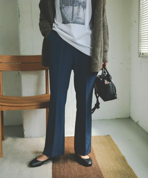 URBAN RESEARCH DOORS / アーバンリサーチ ドアーズ その他パンツ | ライトダブルクロスフレアイージーパンツ | 詳細4