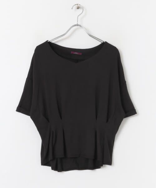 URBAN RESEARCH ITEMS / アーバンリサーチ アイテムズ Tシャツ   レーヨンタックカットソー(BLK)