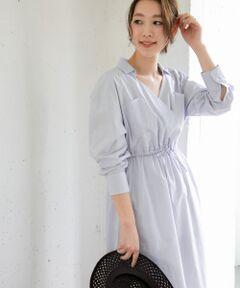 【先行予約】カシュクールが女性らしさを引き出すマキシシャツワンピース