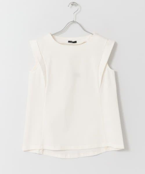 URBAN RESEARCH ROSSO / アーバンリサーチ ロッソ Tシャツ   デザインスリーブTシャツ(OFFWHITE)