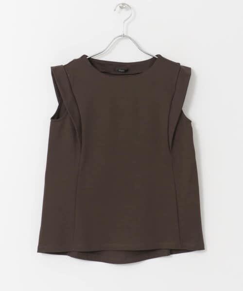 URBAN RESEARCH ROSSO / アーバンリサーチ ロッソ Tシャツ   デザインスリーブTシャツ(D/BROWN)