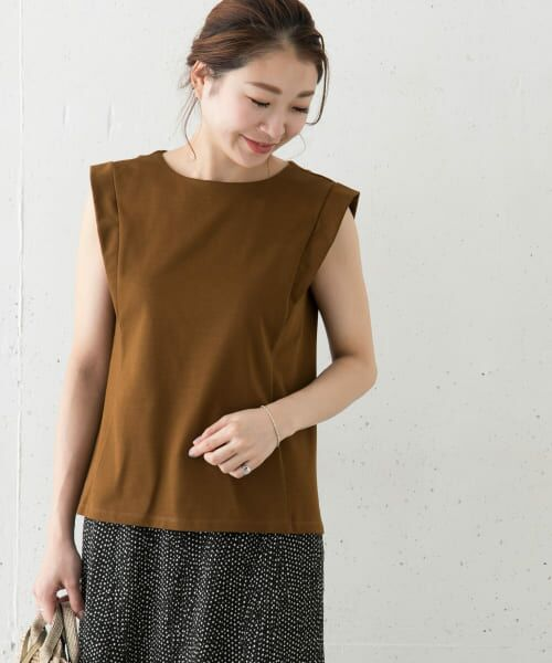 URBAN RESEARCH ROSSO / アーバンリサーチ ロッソ Tシャツ   デザインスリーブTシャツ(Y/KHAKI)