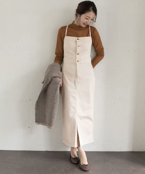 URBAN RESEARCH ROSSO / アーバンリサーチ ロッソ ワンピース | ROSSO×Lee <別注>JUMPER SKIRT(OFF WHITE)