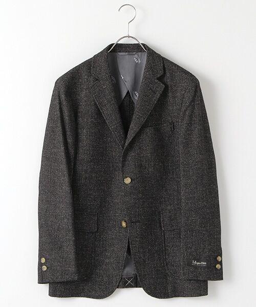 VAN / ヴァン テーラードジャケット   段返りジャケット<アーバンナチュラルモデル>(バーズアイ)