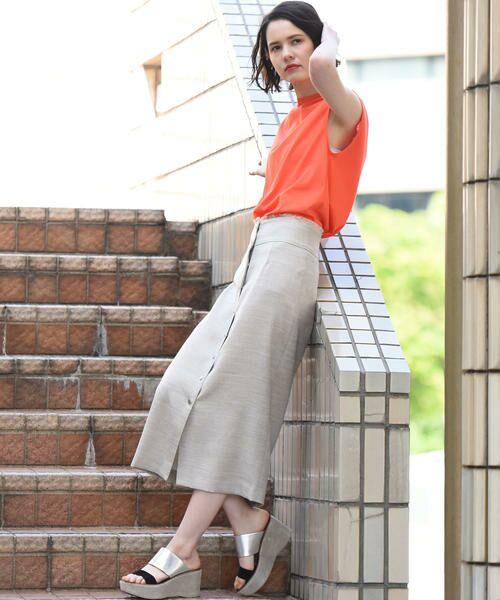 vega / ベガ ロング・マキシ丈スカート | 【洗濯機可能】ドットボタンロングタイトスカート | 詳細11