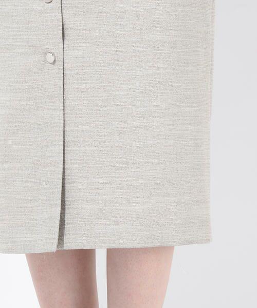 vega / ベガ ロング・マキシ丈スカート | 【洗濯機可能】ドットボタンロングタイトスカート | 詳細6