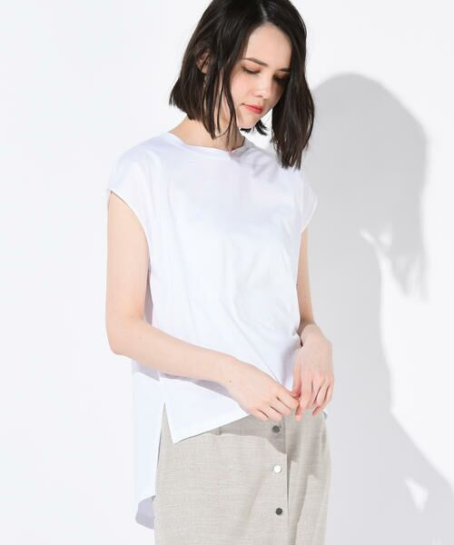 vega / ベガ カットソー | 【洗濯機可能】クールノースリーブTシャツ(オフ)