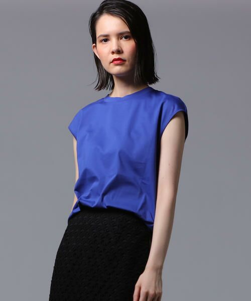 vega / ベガ カットソー | 【洗濯機可能】クールノースリーブTシャツ(ブルー)
