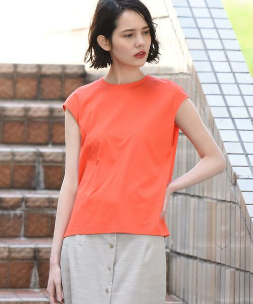 vega / ベガ カットソー | 【洗濯機可能】クールノースリーブTシャツ(オレンジ)