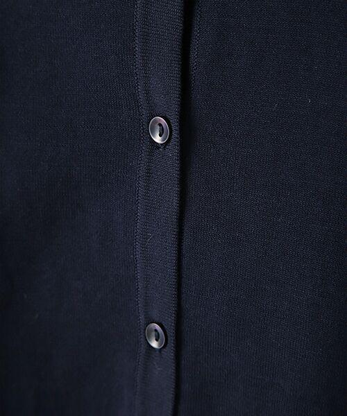 Verseau / ヴェルソー カーディガン・ボレロ | {洗える}光沢コットン丸首ベーシックカーディガン | 詳細4