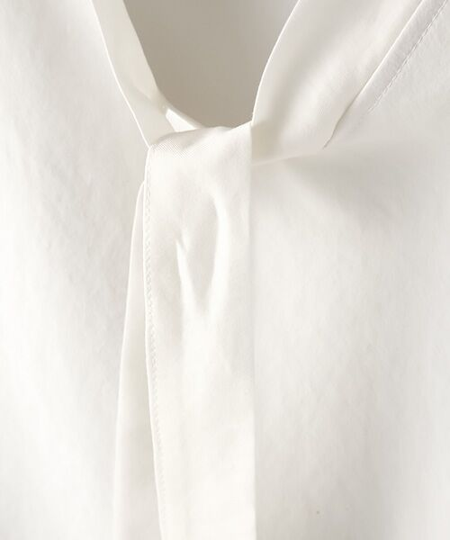 Verseau / ヴェルソー シャツ・ブラウス | {洗える 吸水速乾 接触冷感 紫外線防止 透け防止}前後2WAYボウタイ付きAライントップス | 詳細4