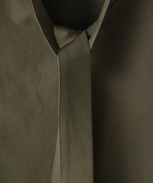Verseau / ヴェルソー シャツ・ブラウス | {洗える 吸水速乾 接触冷感 紫外線防止 透け防止}前後2WAYボウタイ付きAライントップス | 詳細6