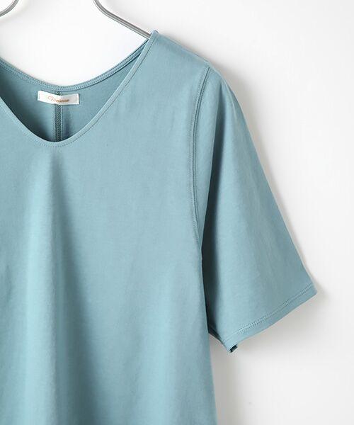 Verseau / ヴェルソー カットソー | {洗える}ベーシックデザインTシャツ | 詳細4