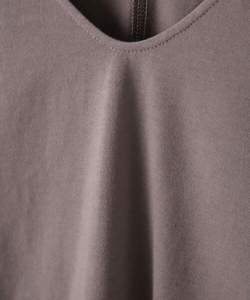 Verseau / ヴェルソー カットソー | {洗える}ベーシックデザインTシャツ | 詳細7
