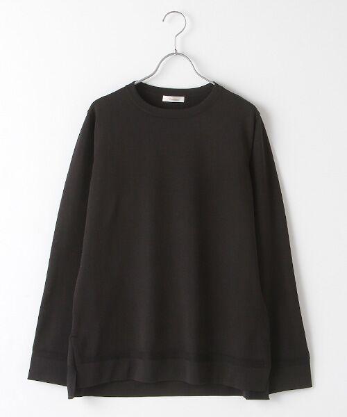 Verseau / ヴェルソー ニット・セーター | エステル サイドスリットニットT(ブラック)