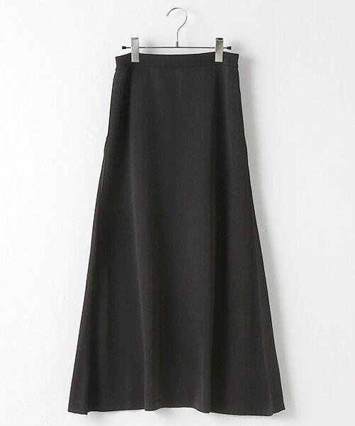 Verseau / ヴェルソー ロング・マキシ丈スカート | エステル ニットロングスカート(ブラック)